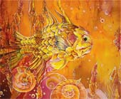 "batik: ""Yellow sea"""