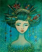 "batik: ""The mermaid of the Japanese sea"""